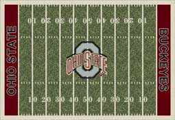 Ohio State University Buckeyes Football Field Area Rug